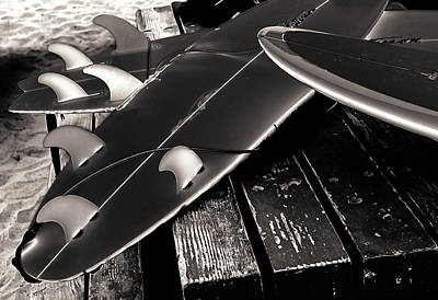 Fins And Boards Art Print by Ron Regalado