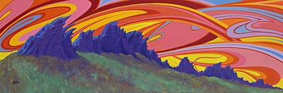 Painting - Fire Sky Over Devil's Backbone by Alan Johnson