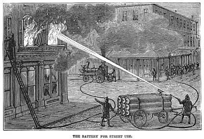 Firefighting, 1876 Art Print by Granger