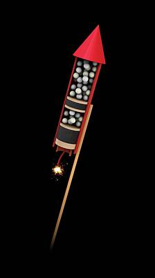 Pyrotechnic Photograph - Firework Structure by Mikkel Juul Jensen