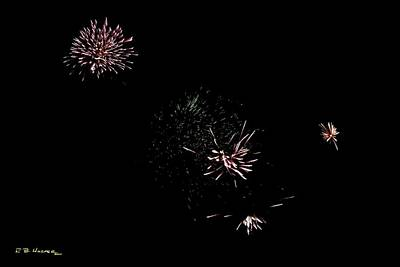 Photograph - Fireworks At Shelter Bay by R B Harper