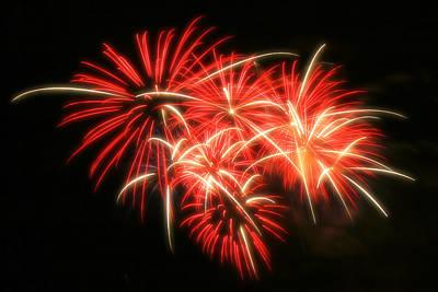 Fireworks Over Kauffman Stadium Art Print