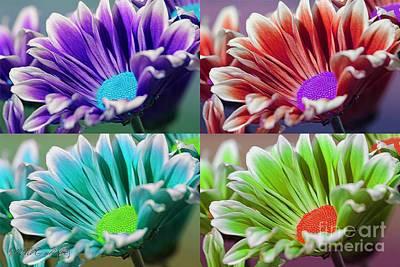 Digital Art - Firmenish Bicolor Pop Art Shades by J McCombie