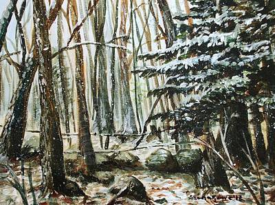 Boonies Painting - First Snow by Shana Rowe Jackson