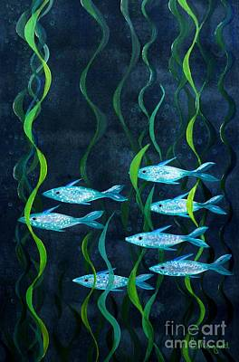 Painting - Fish by Barbara Moignard