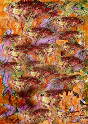 Pastel - Fish Frenzy by Patricia Januszkiewicz