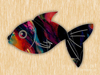 Water Mixed Media - Fish Painting by Marvin Blaine