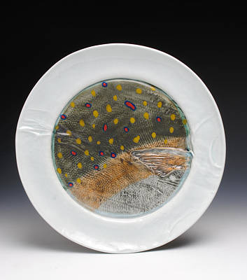 A Fish Out Of Water Sculpture - Fish Plate by Mark Chuck