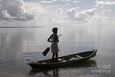 Photograph - Fisherman On Hopkins Bay by Jim West