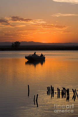 Steven Krull Royalty-Free and Rights-Managed Images - Fishing at Sunset by Steven Krull