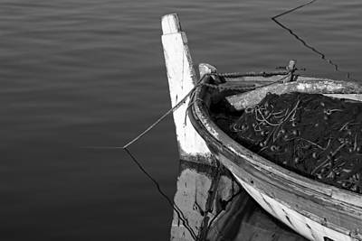 Fishing Boat In Lesvos Island Art Print