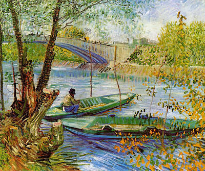 Painting - Fishing In The Spring by Vincent Van Gogh
