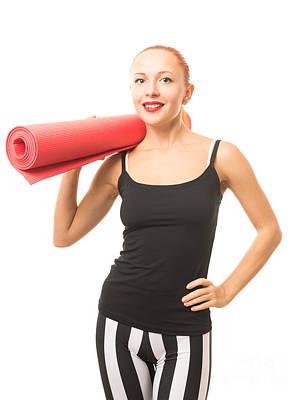 Pasta Al Dente - Fitness woman with yoga mat by Nikita Buida