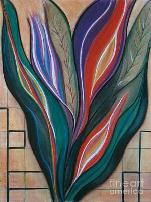 Pastel - Flame Bouquet by Birgit Seeger-Brooks