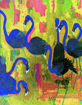 Painting - Flamingos 2 by Vicky Tarcau