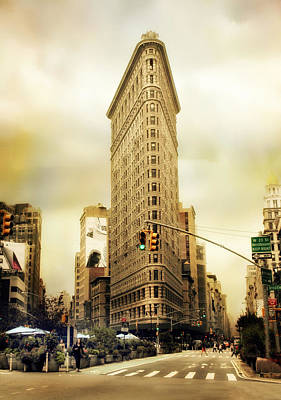 Urban Street Digital Art - Flatiron Crossing by Jessica Jenney