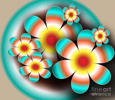 Floral Target Art Print by Iris Gelbart