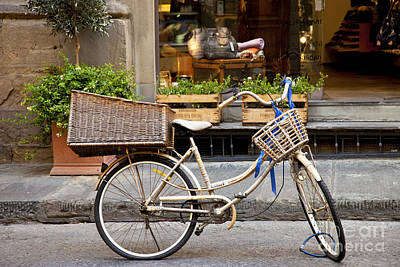 Florence Bicycle  Art Print by Brian Jannsen