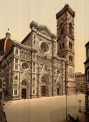Rose Tower Painting - Florence Cathedral by Granger