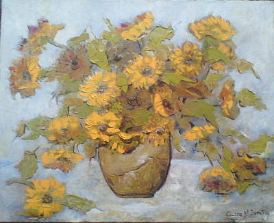 Decorativ Painting - Flori by Dumitru  Ciurea