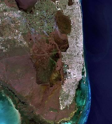 Florida Art Print by Nasa/matt Radcliff/usgs Earth Explorer