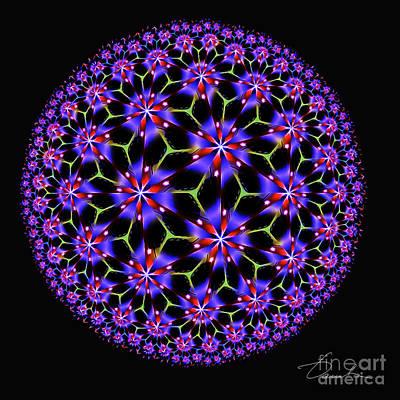 Digital Art - Flower Ball by Danuta Bennett