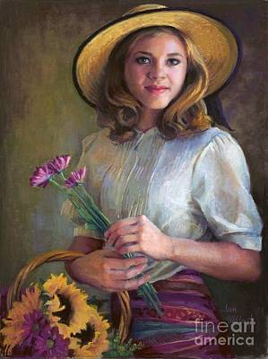 Painting - Flower Peddler by Jean Hildebrant