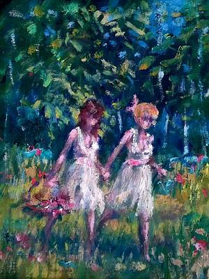 Painting - Flower Picking by Philip Corley