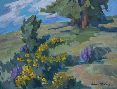 Painting - Flowering Meadow by Diane McClary