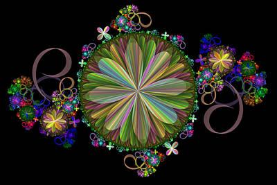 Digital Art - Flowers by Sandy Keeton