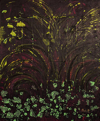 Painting - Flowery Night  by Oscar Penalber