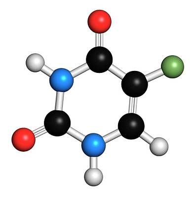 Fluorouracil Cancer Drug Molecule Art Print