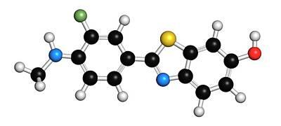 Flutemetamol 18f Pet Tracer Molecule Art Print