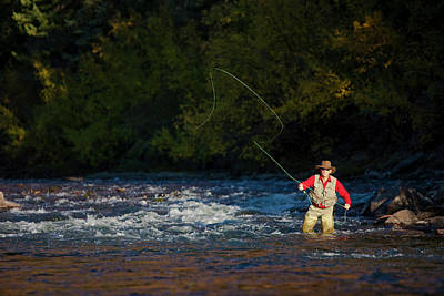 Colorado Fly Fishing River Wall Art - Photograph - Fly Fishing by Jack Affleck