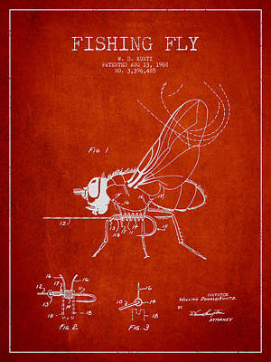 Fly Fly Patent Drawing From 1968 Art Print by Aged Pixel