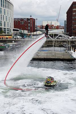 Jet Photograph - Flyboard by Cordelia Molloy
