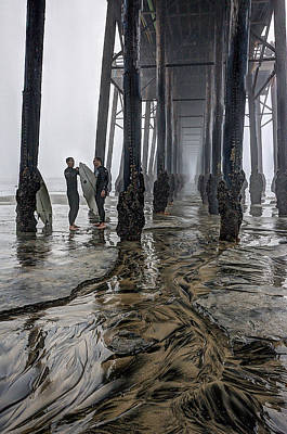 Fog At The Pier Art Print