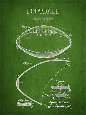 Soccer Digital Art - Football Patent Drawing From 1939 by Aged Pixel