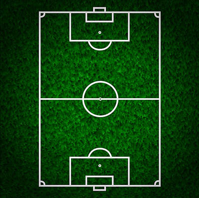 Footie Digital Art - Football  Soccer Field by Modern Art Prints