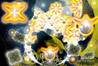 Digital Art - Forces Unite Ophanim Assemble by Aeres Vistaas