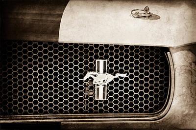 Ford Mustang Gt 350 Grille Emblem Art Print by Jill Reger