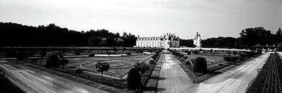 White River Scene Photograph - Formal Garden In Front Of A Castle by Panoramic Images