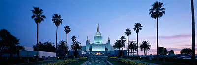 Mormon Temple Photograph - Formal Garden In Front Of A Temple by Panoramic Images