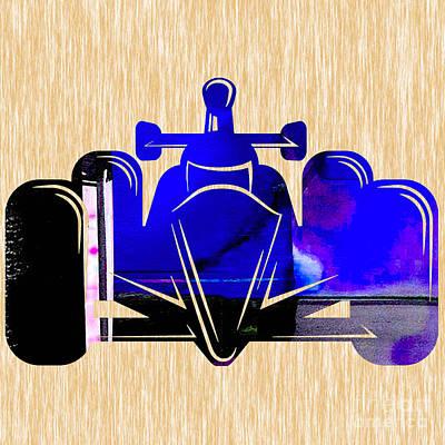 Racetrack Mixed Media - Formula One Race Car by Marvin Blaine