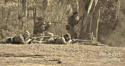 Photograph - Fort Anderson Civil War Re Enactment In Sepia by Jocelyn Stephenson