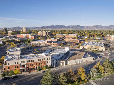 Fort Collins Downtown Art Print