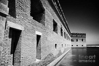 Fort Jefferson Brick Walls With Moat Dry Tortugas National Park Florida Keys Usa Art Print