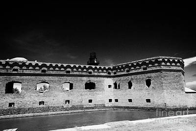 Fort Jefferson Walls With Garden Key Lighthouse Bastion And Moat Dry Tortugas National Park Florida  Art Print by Joe Fox