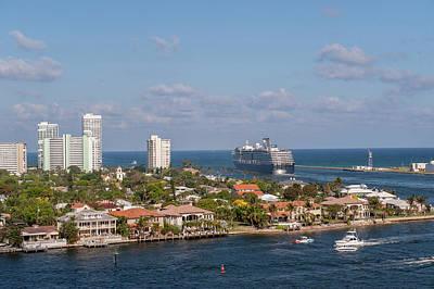 Rotterdam Photograph - Fort Lauderdale, Port Everglades by Jim Engelbrecht
