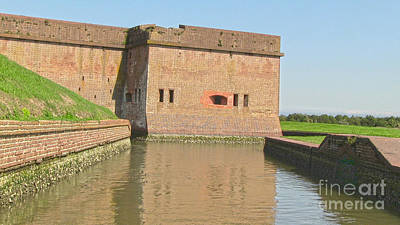 Fort Pulaski Moat System Art Print by D Wallace